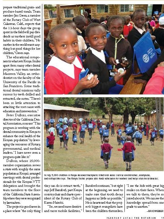 Kenya Smiles, The Rotarian, February 2014_Page_2